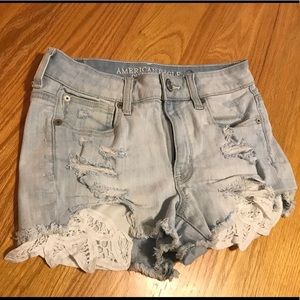 American Eagle Outfitters Hi-Rise Jean Shorts